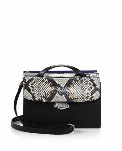 Fendi Multicolor Leather/Python Demi Jour Mini Bag