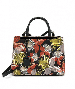 Fendi Multicolor Orchid Print 2Jours Mini Bag