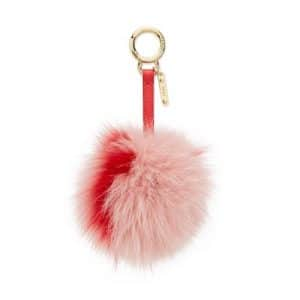 Fendi Pink/Red Fox Fur PomPon