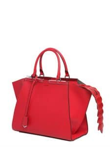 Fendi Red with Croc Tail 3Jours Mini Bag
