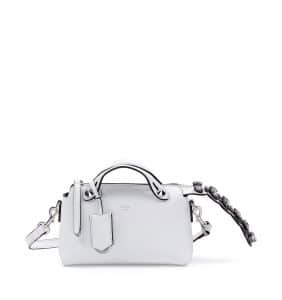 Fendi White with Crystal Tail By The Way Mini Bag