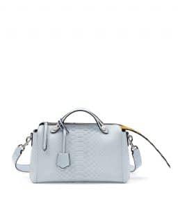 Fendi White/Yellow Python By The Way Small Bag