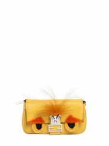 Fendi Yellow Monster Baguette Micro Bag