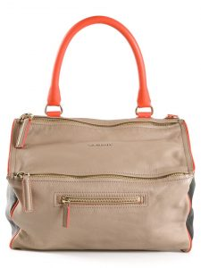 Givenchy Beige/Black/Orange Pandora Medium Bag
