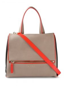 Givenchy Beige/Black/Orange Pandora Pure Satchel Bag