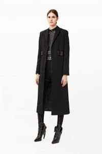 Givenchy Black Belted Coat - Pre-Fall 2015