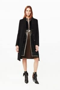 Givenchy Black Embellished Coat - Pre-Fall 2015