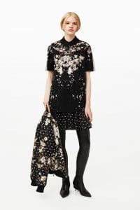 Givenchy Black Floral Print Top and Jacket - Pre-Fall 2015