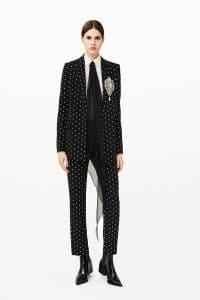 Givenchy Black/White Polkadot Suit - Pre-Fall 2015