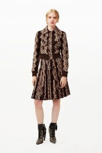 Givenchy Brown Reptile Print Dress and Boots - Pre-Fall 2015