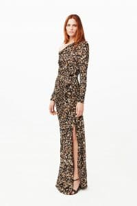 Givenchy Multicolor Floral Print Long Dress - Pre-Fall 2015