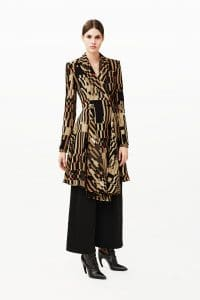 Givenchy Multicolor Geometric Print Coat - Pre-Fall 2015