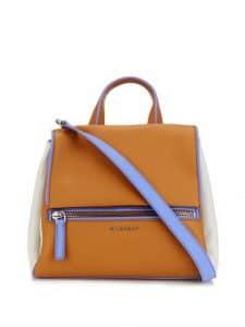Givenchy Tan/Purple/Grey Pandora Pure Satchel Bag