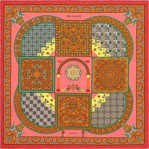 Hermes Ciels Byzantine Silk Twill Scarf 90