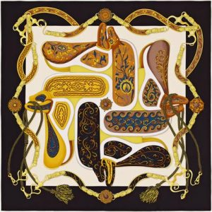 Hermes Festival Des Amazones Silk Twill Scarf 90