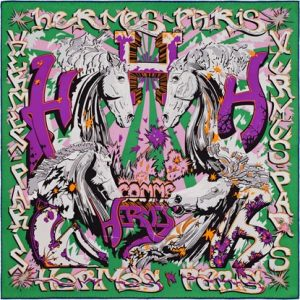 Hermes H Comme Hermes Silk Twill Scarf 70