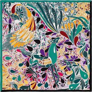Hermes Millefleurs du Mexique Silk Twill Scarf 70