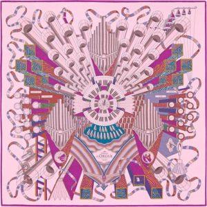 Hermes Point D'Orgue Silk Chiffon Shawl