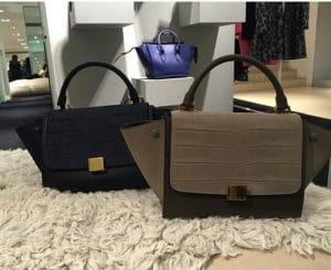 Celine Croc Trapeze Mini Bag