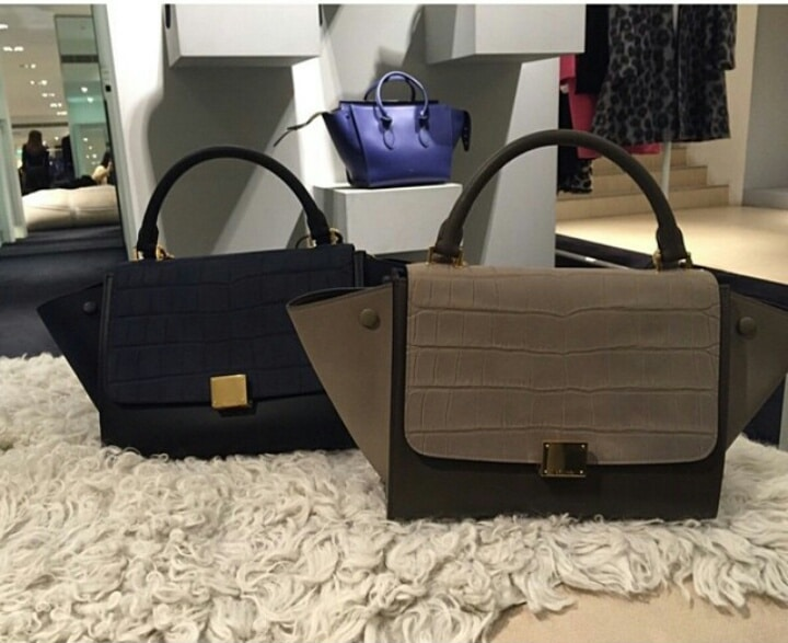 celine shopping bag price - Celine Mini Trapeze Bag Colors for Spring 2015 | Spotted Fashion