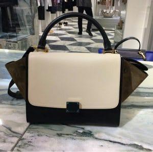 Celine Tricolor Suede Mini Trapeze Bag