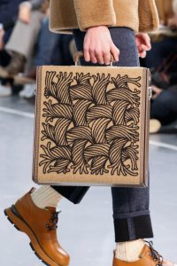 Louis Vuitton Brown Etched Shearling Trunk Bag - Fall 2015