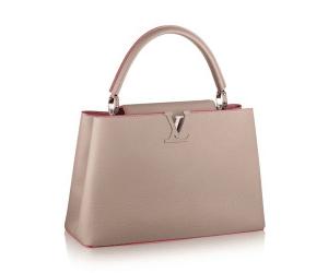 Louis Vuitton Galet Litchi Capuciness MM Bag