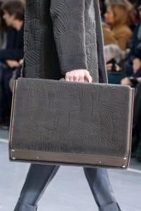 Louis Vuitton Grey Etched Shearling Trunk Bag - Fall 2015