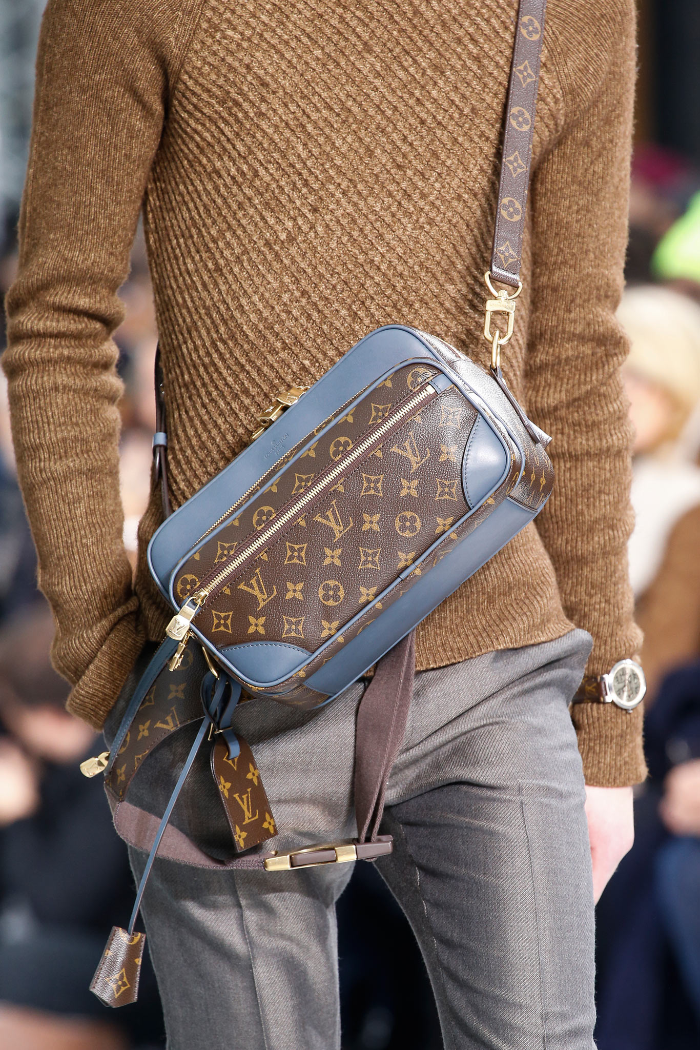 00cc5f04a8bc Louis Vuitton Monogram Canvas with Blue Trim Small Messenger Bag - Fall 2015