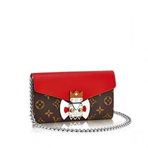 Louis Vuitton Pochette Mask Red Chain Bag - Cruise 2015