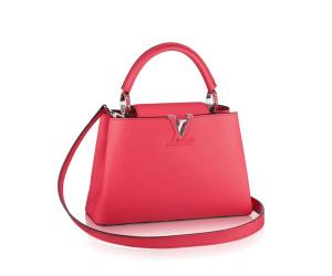 Louis Vuitton Rose Litchi Capucines BB Bag