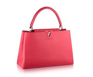 Louis Vuitton Rose Litchi Capucines MM Bag