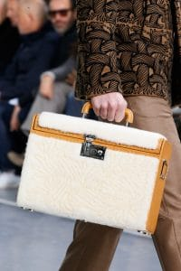 Louis Vuitton White Etched Shearling Trunk Bag - Fall 2015