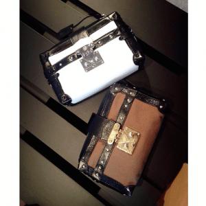 Louis Vuitton White/Brown Petite Malle Souple Bags - Spring 2015