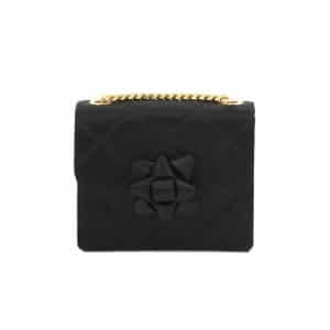 Marc Jacobs Black Quilted Satin Party Bow Trouble Mini Bag