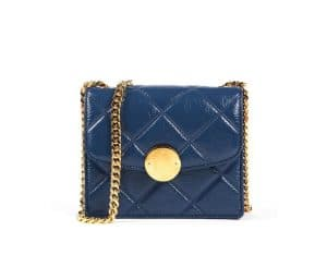 Marc Jacobs Blue Quilted Mini Trouble Bag