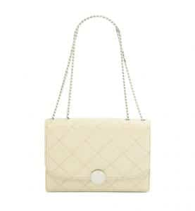Marc Jacobs Cream Quilted Trouble Bag