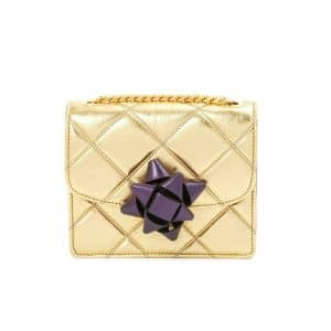 Marc Jacobs Gold/Violet Quilted Metallic Party Bow Trouble Mini Bag