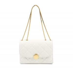 Marc Jacobs White Quilted Trouble Bag