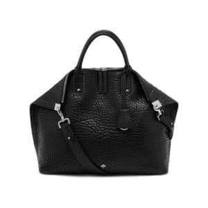 Mulberry Black Shrunken Calf Alice Zipped Tote Bag