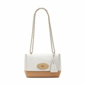 Mulberry Cream/Wheat Lamb Nappa Lily Bag