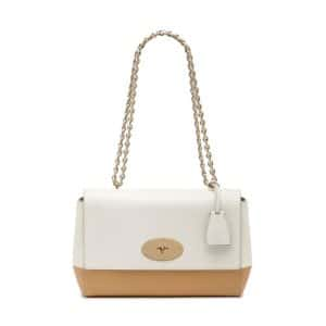 Mulberry Cream/Wheat Lamb Nappa Lily Medium Bag
