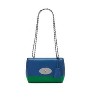 Mulberry Jungle Green/Sea Blue Lamb Nappa Lily Bag