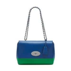Mulberry Jungle Green/Sea Blue Lamb Nappa Lily Medium Bag