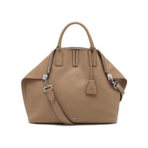Mulberry Mushroom Classic Grain Alice Zipped Tote Bag