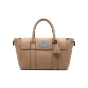 Mulberry Mushroom Grey Classic Grain Bayswater Buckle Small Bag