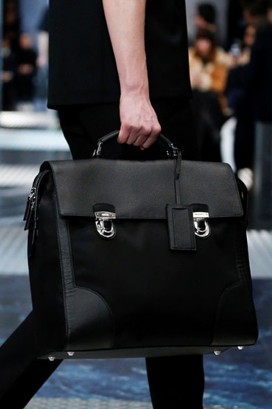 Prada Men S Fall 2015 Runway Bag Collection Spotted Fashion
