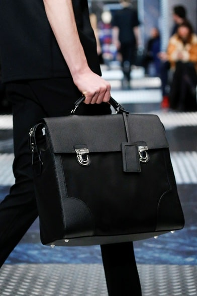 Prada Men\u0026#39;s Fall 2015 Runway Bag Collection | Spotted Fashion - Prada briefcase black