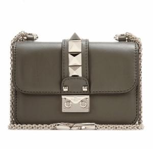 Valentino Army Green Rockstud Lock Flap Mini Bag