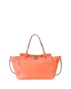 Valentino Coral Rockstud Tote Bag
